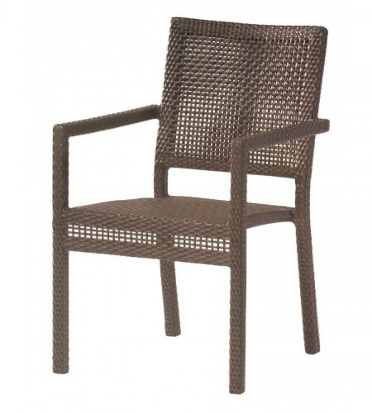 all weather miami dining arm chair stackable