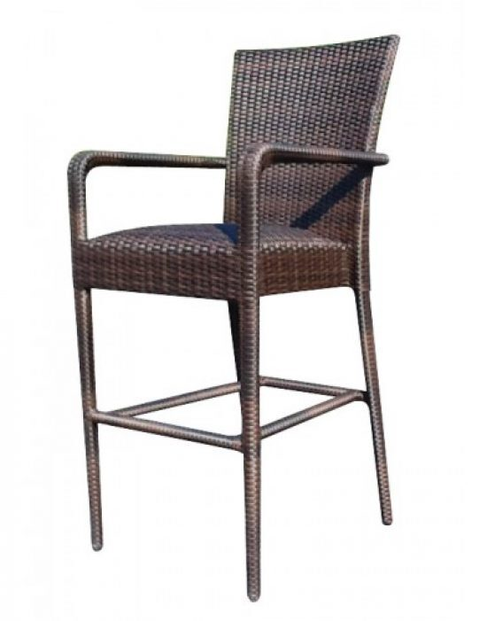 All-Weather Padded Seat Bar Stool With Arms