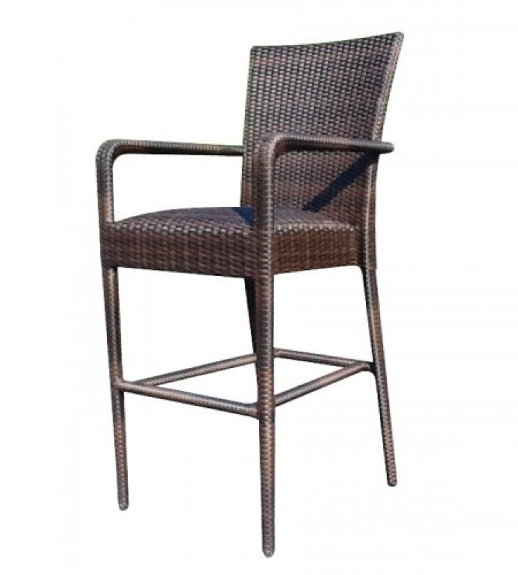 all weather padded seat bar stool with arms