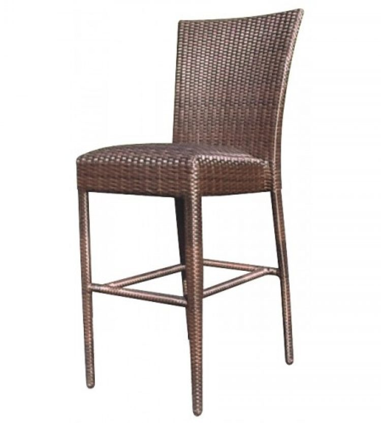 all weather padded seat bar stool without arms