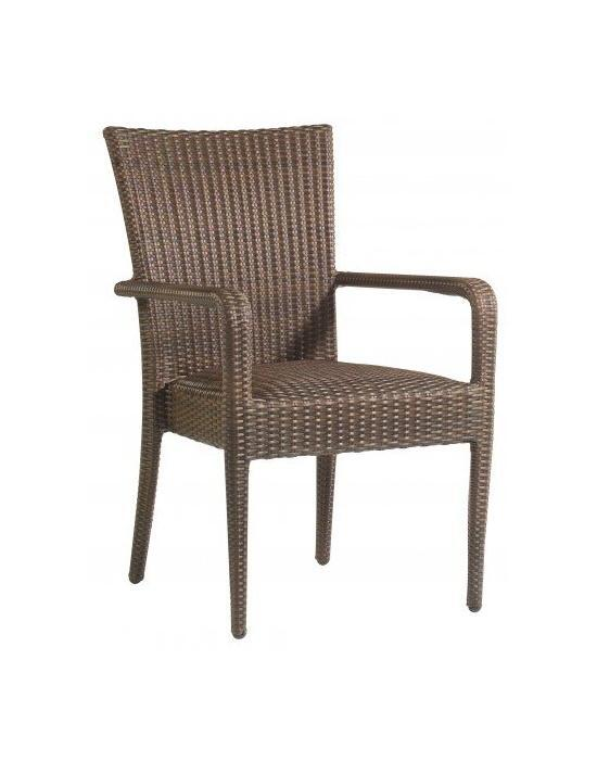 All-Weather Padded Seat Dining Arm Chair