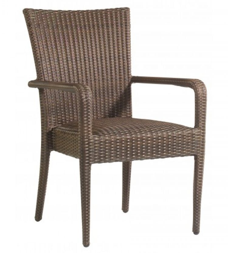 all weather padded seat dining arm chair