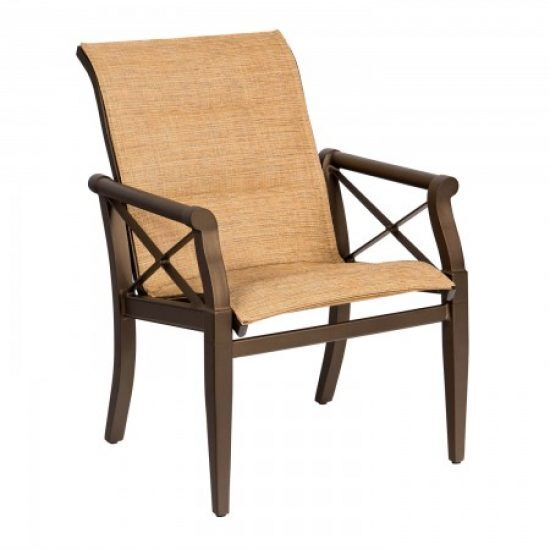 Andover Padded Sling Dining Arm Chair