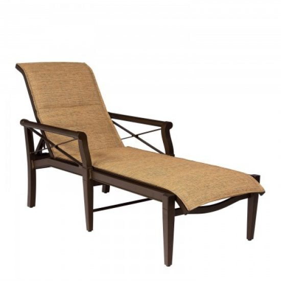 Andover Padded Sling Adjustable Chaise Lounge