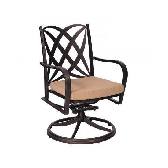 Apollo Swivel Rocker Dining Arm Chair with Optional Cushion