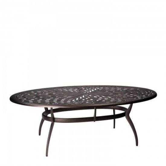 Apollo Oval Umbrella Dining Table