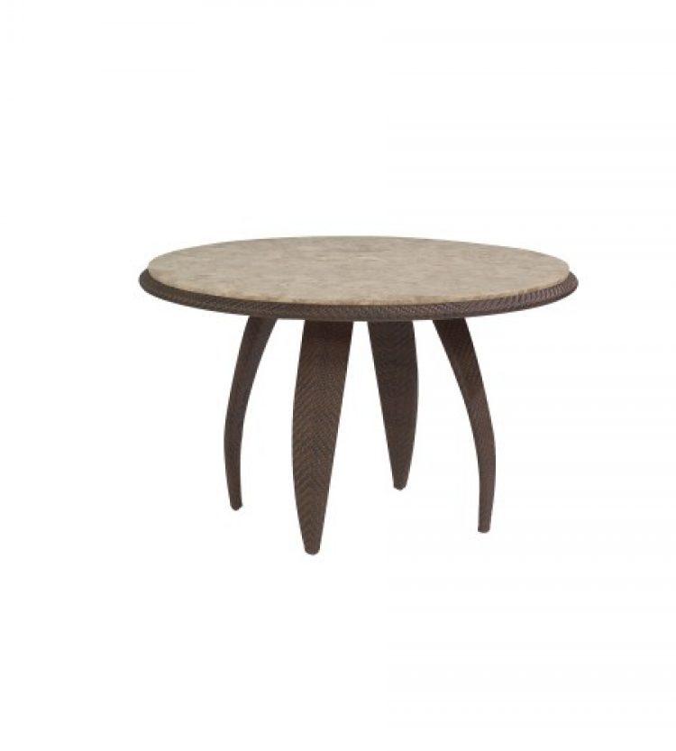 bali 48 round stone top table