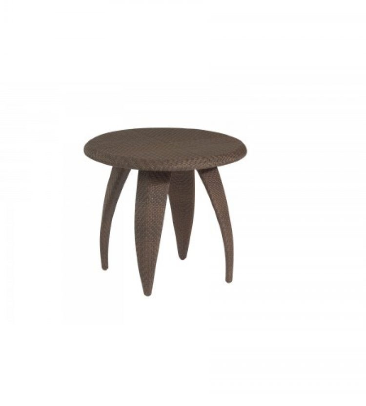 bali end table with woven top
