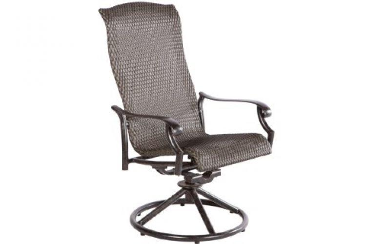 barbados swivel dining arm chair