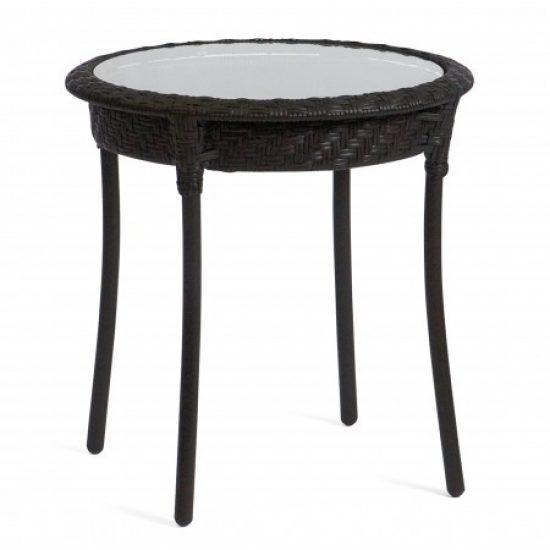 "Barlow 22"" Round End Table - Dark Roast"