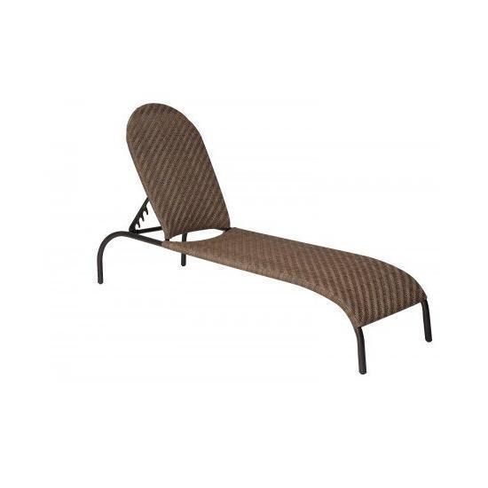 Barlow Adjustable Chaise Lounge- Stackable - Bronzed Teak