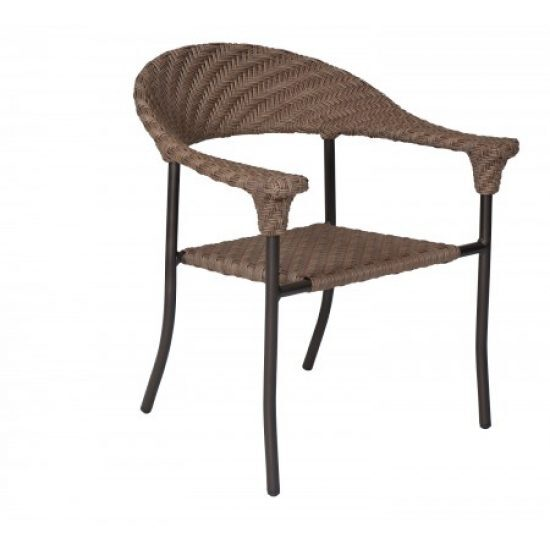 Barlow Dining Arm Chair - Stackable - Bronzed Teak
