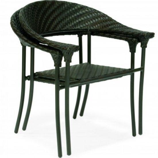 Barlow Dining Arm Chair - Stackable - Dark Roast