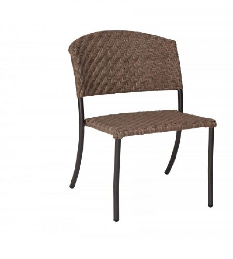 barlow dining side chair stackable bronzed teak