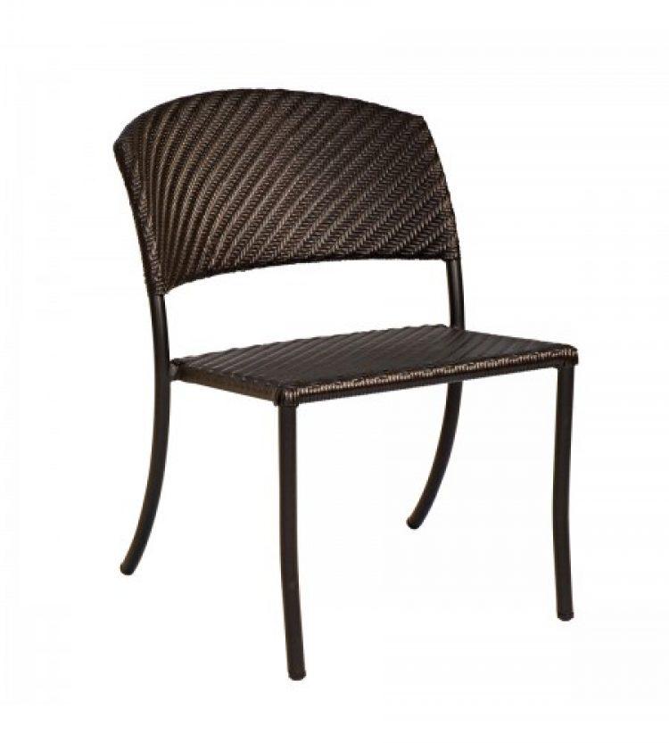 barlow side chair stackable dark roast