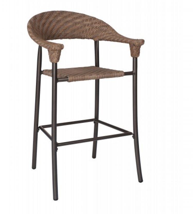 barlow stationary bar stool bronzed teak