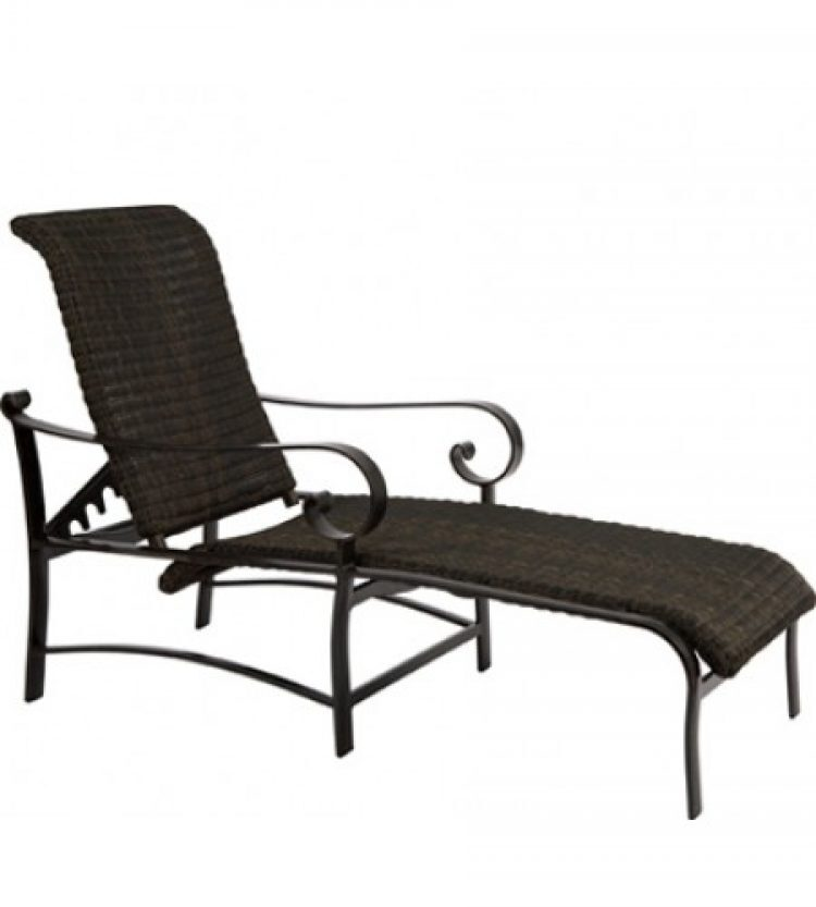 belden round weave adjustable chaise lounge
