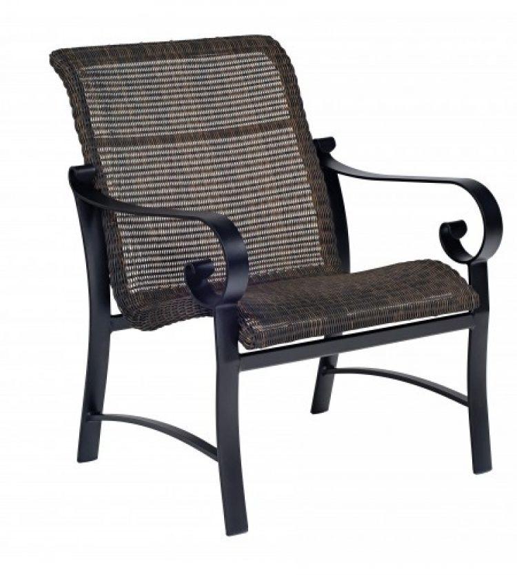belden round weave lounge chair