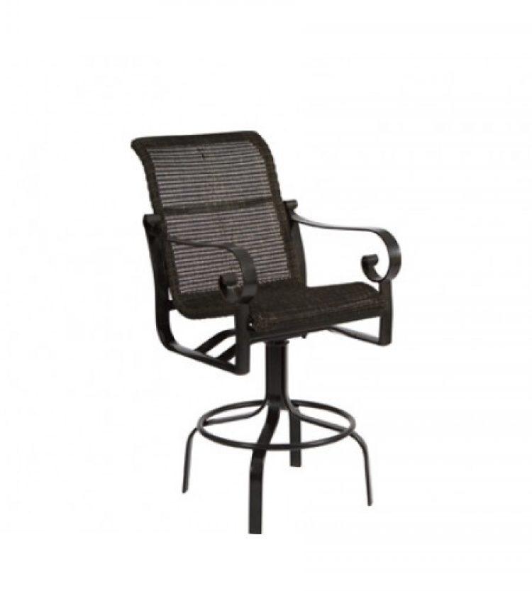 belden round weave swivel bar stool