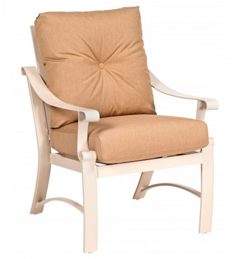 bungalow cushion dining arm chair
