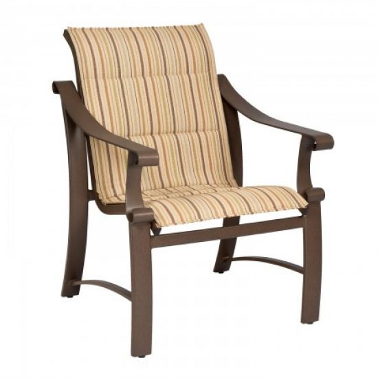 Bungalow Padded Sling Dining Arm Chair
