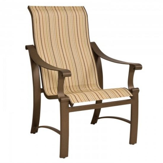 Bungalow Sling High-Back Dining Arm Chair