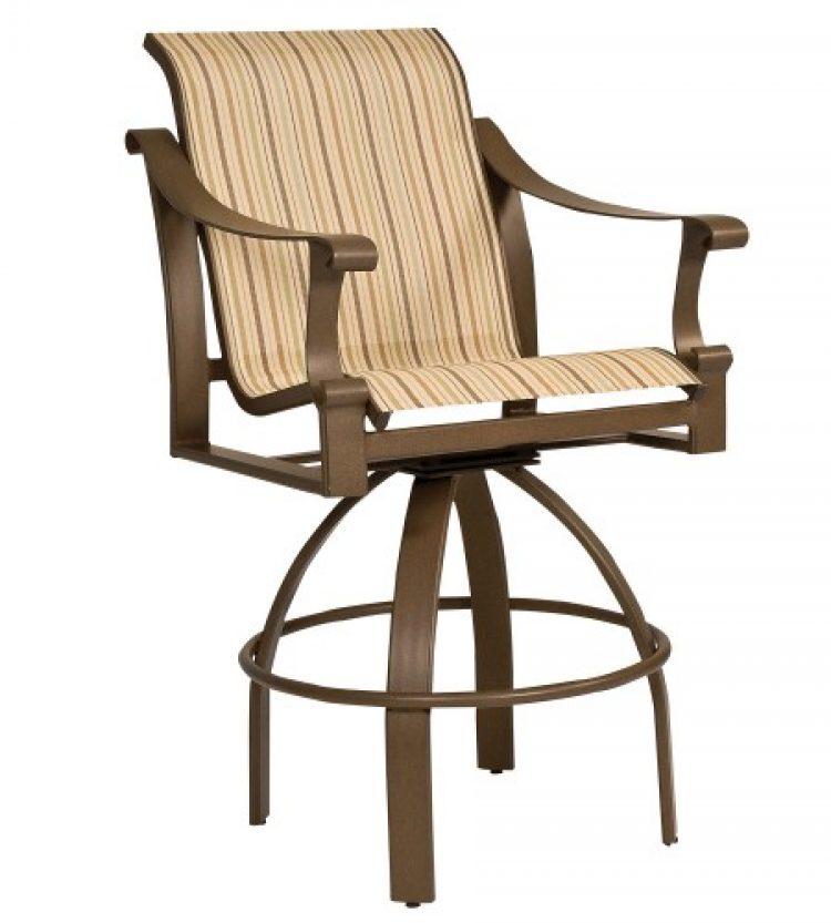 bungalow sling swivel bar stool