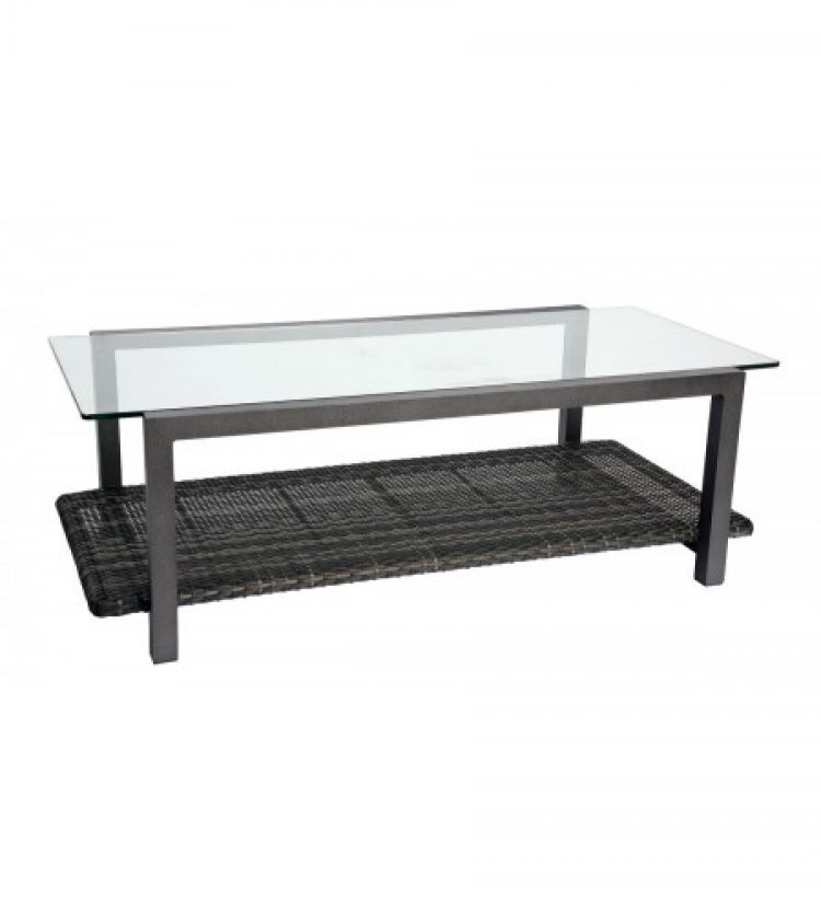canaveal coffee table with glass top