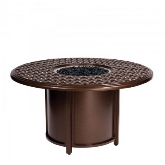 Casa Fire Round Chat Height Fire Table And Round Burner
