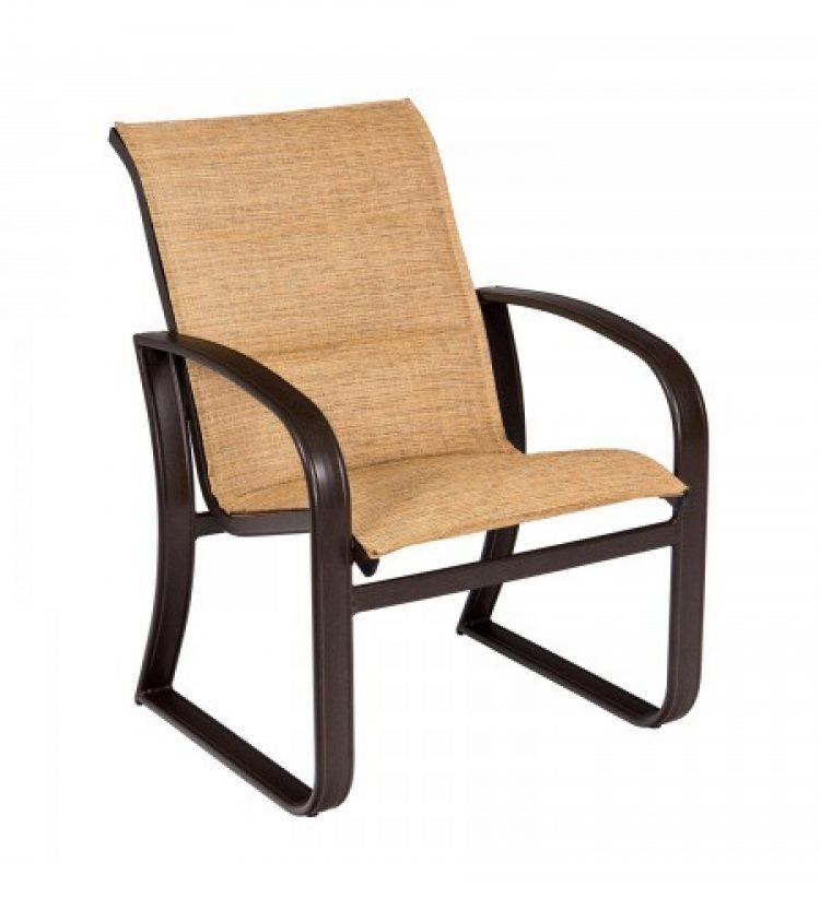 cayman isle padded sling dining arm chair