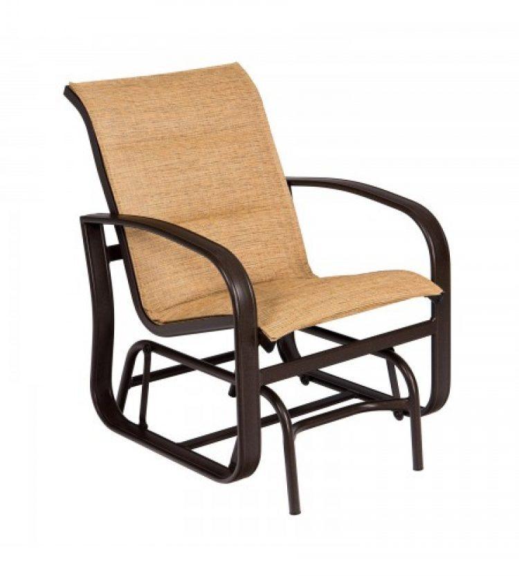 cayman isle padded sling gliding chair
