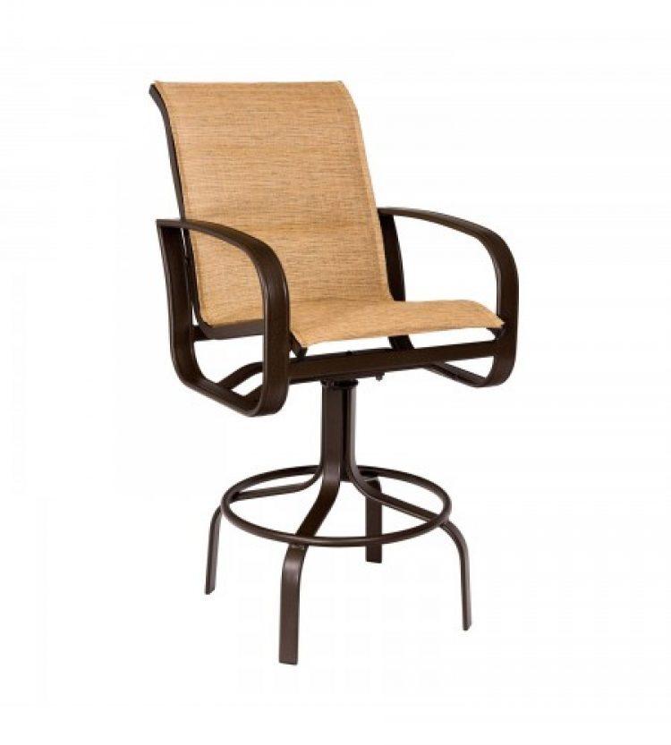 cayman isle padded sling swivel bar stool