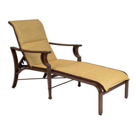 Arkadia Padded Sling Adjustable Chaise Lounge