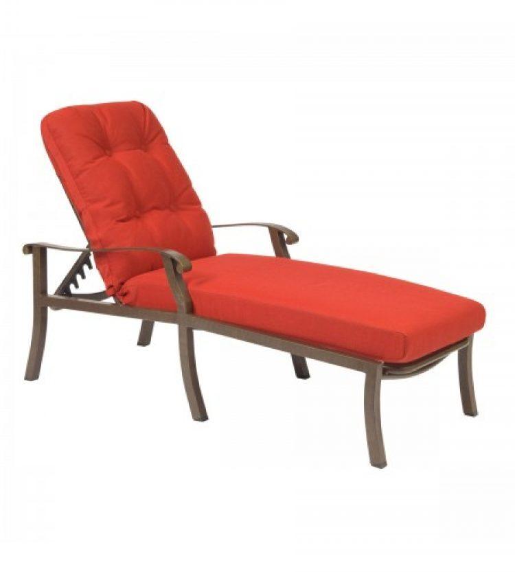 cortland cushion adjustabel chaise lounge