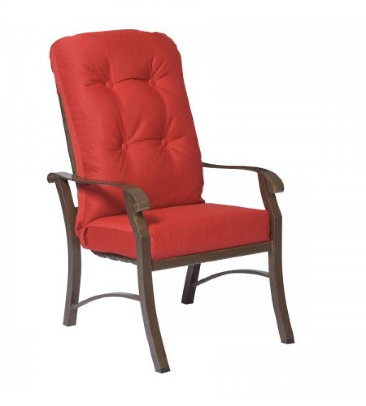 cortland cushion high back dining arm chair