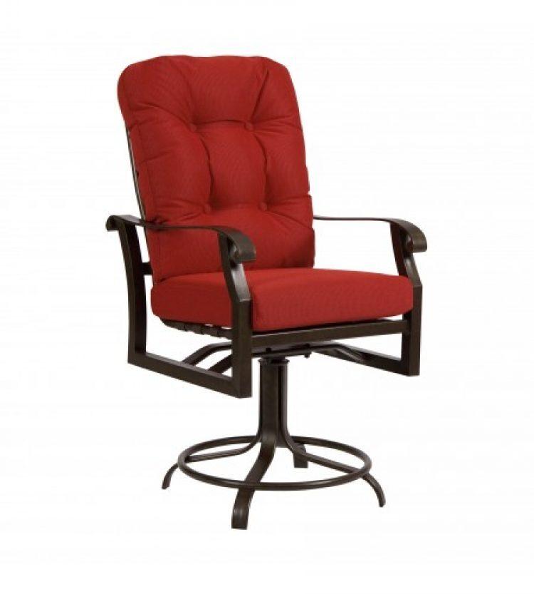 cortland cushion swivel counter stool
