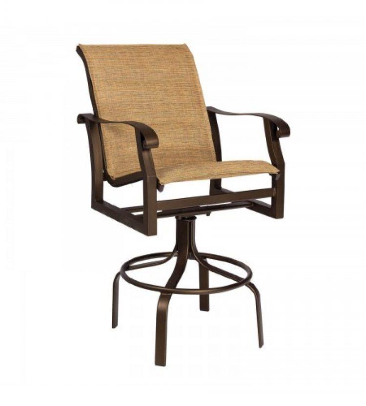 cortland padded sling swivel bar stool
