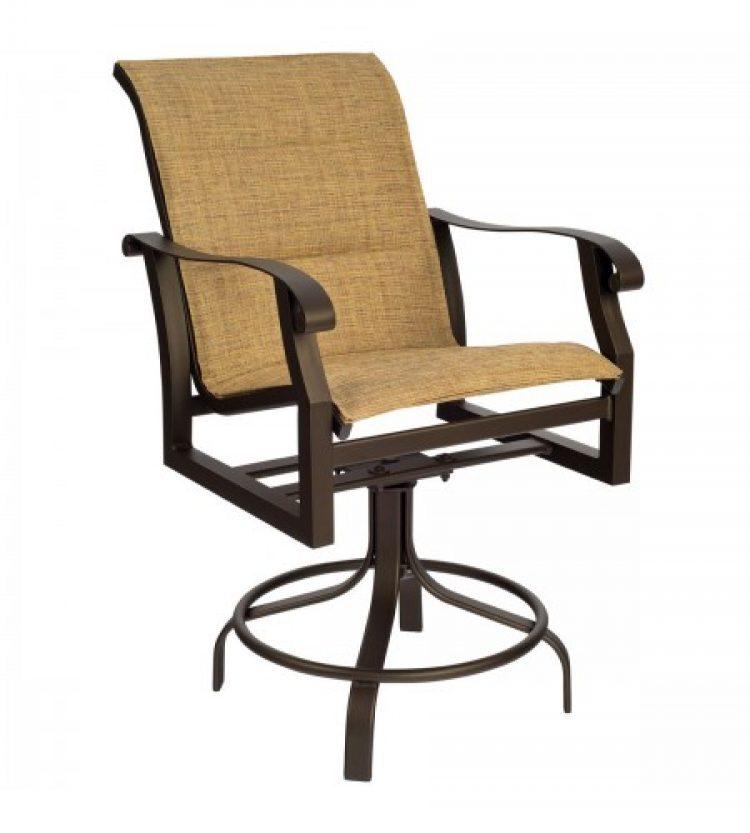 cortland padded sling swivel counter stool
