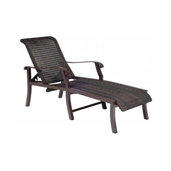 Cortland Round Weave Adjustable Chaise Lounge