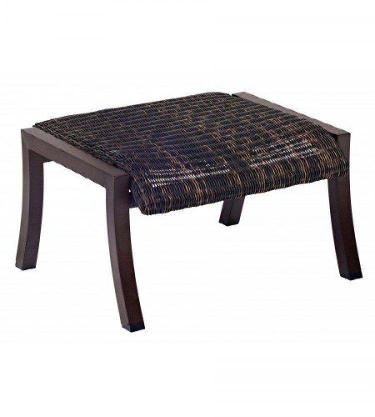 cortland round weave ottoman