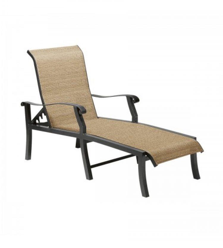 cortland sling adjustable chaise lounge