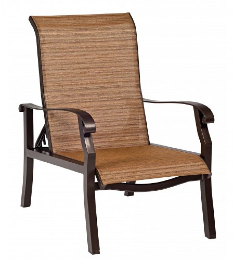 cortland sling adjustable lounge chair