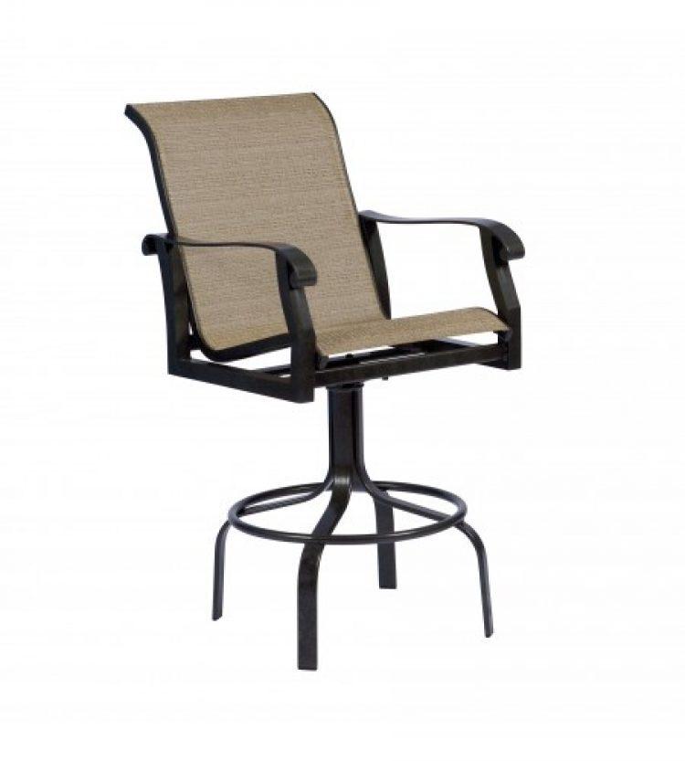 cortland sling swivel bar stool