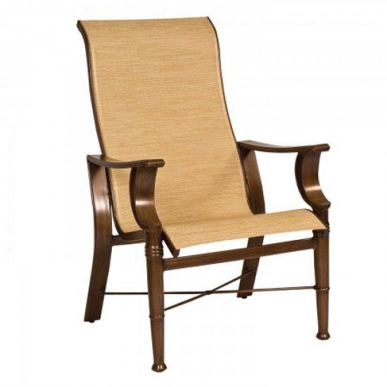 Arkadia Sling High-Back Dining Arm Chair