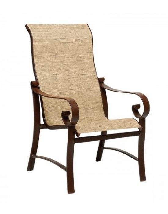 Belden Sling High-Back Dining Arm Chair