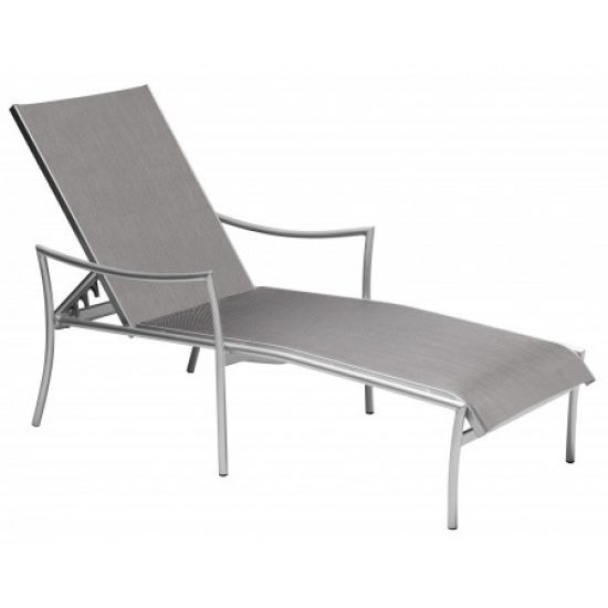 Dominica Sling Adjustable Chaise Lounge - Stackable