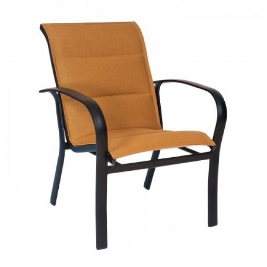 Fremont Padded Sling Dining Arm Chair - Stackable