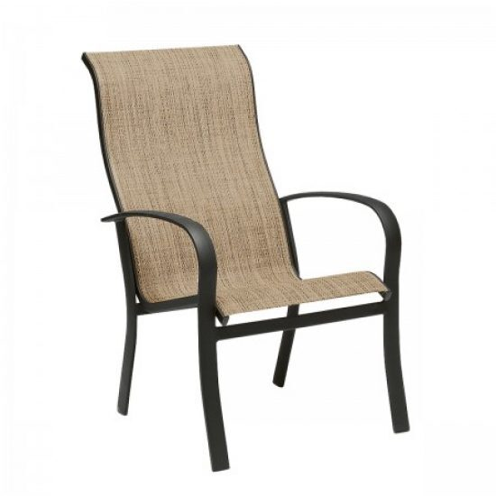 Fremont Sling High-Back Dining Arm Chair - Stackable