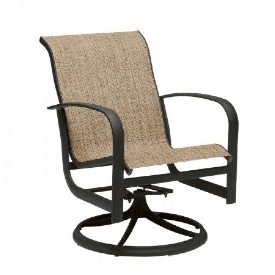 Fremont Sling Swivel Rocker Dining Arm Chair