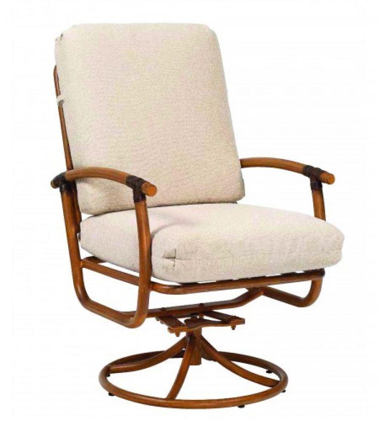 glade isle cushion swivel rocker dining arm chair